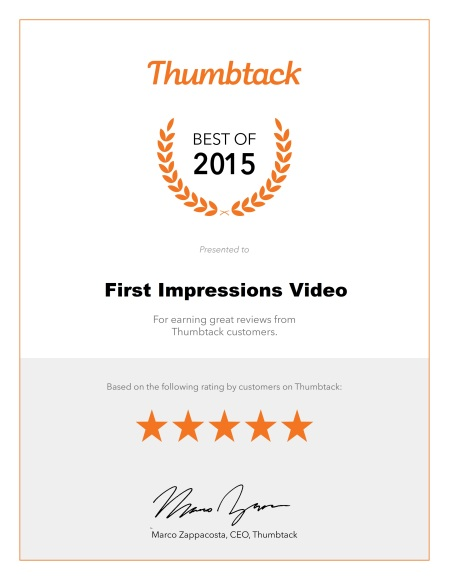 New Thumbtack 2015 Cert